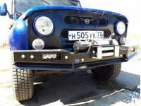 Бампер передний 469/Хантер РУБИКОН-1 без кенгурина