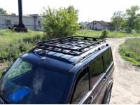Багажник Скрытый Корзина УАЗ Патриот крепление в водосток с сохранением рейлингов
