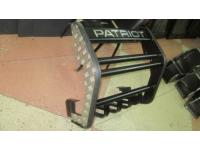 Кенгурин на УАЗ Патриот 2015 Приоритет с защитой двигателя и алюминиевыми накладками