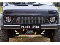 Решетка «Злая» радиатора с сеткой металлик Lada (ВАЗ) Нива 2131 -, шагрень, оригинал